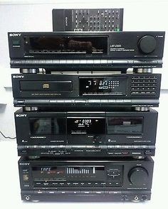Radios, Home Theater Setup, At Home Movie Theater, Super Sons, Retro, Sony Electronics, Audio Rack, Hi Fi System, Powered Subwoofer