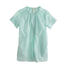 Girls button tunic in candy stripe
