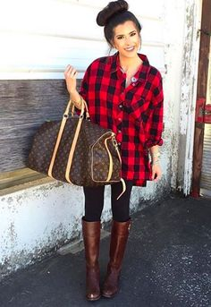 Buffalo Plaid Oversized Tunic from Shop Southern Roots TX