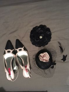 fafbf0edcf30c Mother Of The Bride Shoes Size 5 ,Clutch Bag & Fascinator. Jacque Vert .