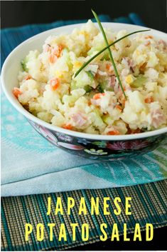 Japanese Potato Salad - it's all about the Kewpie Mayo! Lighter, plus more veggies!   #potato #salad #summer #barbecue  via @She's Cookin'