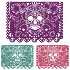 Get Day Of The Dead Decoration. Papel Picado royalty-free stock image and other vectors, photos, and illustrations with your Storyblocksmembership. Festa Monster High, Mexican Fiesta Decorations, Sugar Skull Design, Mexican Art, Skull And Bones, Day Of The Dead, Halloween Diy, Royalty Free Photos, Diys