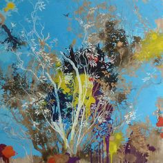HENRIK S. SIMONSEN Big Blue, 2014 Oil and graphite on canvas 150 x 150 cm