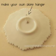 How to Make Your Own Plate Hangers {plate hanger}Want to hang some plates on the wall? Here is a fantastic tutorial on how to create your own easy and practically free plate hangers!View This Tutorial