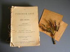 Antique Salvaged Book ~ Paradise Lost