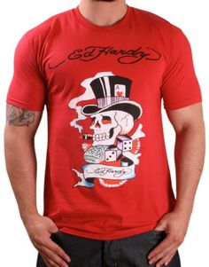 33% Off was $45.00, now is $29.99! ED HARDY by Christian Audigier Mens Tattoo Logo Short Sleeve T-Shirt Tee Top Black + Free Shipping