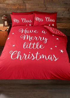 Slogan Reversible Christmas Duvet Set - Matalan
