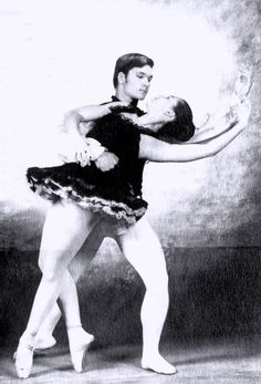 Young Patrick Swayze as ballet dancer