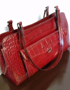 MONSAC LEATHER STRUCTURED PURSE, RED | Clothing, Shoes & Accessories, Women's Handbags & Bags, Handbags & Purses | eBay!