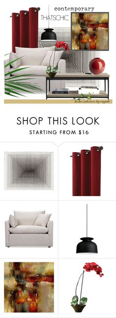 """THATSCHIC"" by emjule ❤ liked on Polyvore featuring interior, interiors, interior design, home, home decor, interior decorating, Home Decorators Collection, Volo Design, Gubi and Nearly Natural"