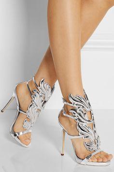 Giuseppe Zanotti Embellished patent-leather sandals