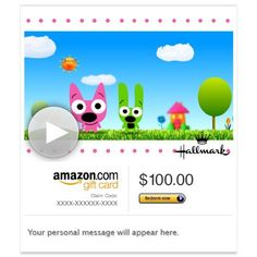 Amazon Gift Card - Email - Hoops and Yoyo You're as Sweet As (Animated)   Amazon Price: $100.00 $100.00 (as of May 20, 2016 19:10 - Details). Product prices and availability are accurate as of the date/time  Read more http://cosmeticcastle.net/gift-cards/amazon-gift-card-email-hoops-and-yoyo-youre-as-sweet-as-animated-hallmark  Visit http://cosmeticcastle.net to read cosmetic reviews
