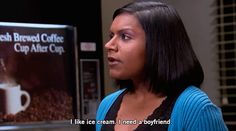 Pin for Later: 7 Times Mindy Kaling Proved She Understands Your Dating Life How comfort food and boyfriends are so similar.