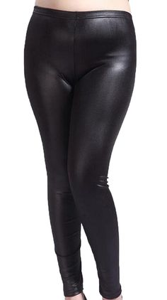40eff5156a906 Goocyber Women's Plus Size Faux Leather Sexy Stretch Pencil pants >>> Check  out this great image : Plus size leggings