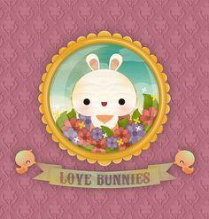 Illustration: portrait of a bunny