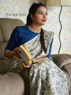 Check out this collection of best formal office wear sarees collection online from the brand The Apik store. Formal Saree, Casual Saree, Uni, Cotton Saree Blouse Designs, Modern Saree, Saree Trends, Saree Models, Stylish Sarees, Dress Indian Style