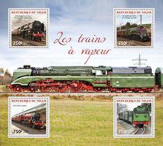 Post stamp Niger NIG 14315 aSteam trains (LMS Royal Scot Class 6115 Scots Guardsman, {…}, Rasender Roland)