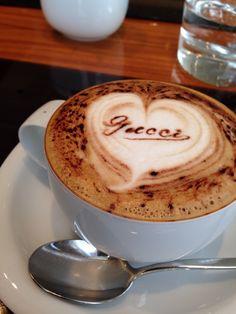 Happy Valentines Cappuccino @ GUCCI CAFE