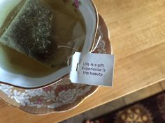 Love my inspirational quote from @Yogiproducts this morning. More on #Tea Time - http://ospa.me/14wE1qi Yogi Tea