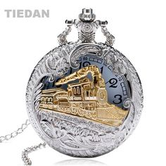 >> Click to Buy << TIEDAN Brand Vintage Retro Train Hollow Pocket Watch Quartz Watches with Necklace Chain Pendant Women Ladies Watches Men Gifts #Affiliate