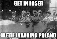 Dark Humour Memes, Dankest Memes, Art Memes, Hitler Jokes, History Jokes, Tired Of Work, Stupid Funny Memes, Crazy Funny, Funny Stories
