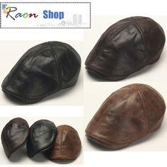 New Design Men Leather Ivy Cap Bunnet, Newsboy Beret Cabbie Gatsby Flat Golf Hat