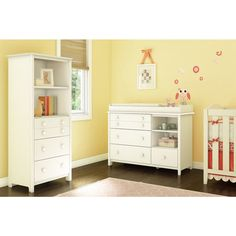 Little Smileys Changing Table with Removable Changing Station and Shelving Unit with Drawers - Overstock Shopping - Big Discounts on Changing Tables