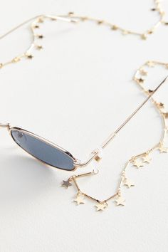 sunglasses chain Slide View: Icon S - sunglasses Fake Glasses, Cute Sunglasses, Cat Eye Sunglasses, Sunglasses Women, Sunglass Frames, Urban Outfitters, Metal Chain, Eyeglasses, Necklaces
