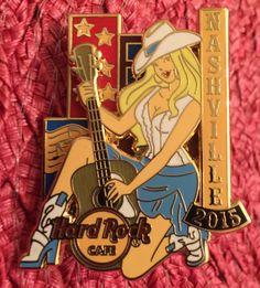 Hard Rock Cafe Nashville 2015 Cowgirl Pin.