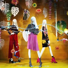 "DE BIJENKORF, Amsterdam, The Netherlands, ""Flower Power"", for Chloe, Saint Laurent and Celine, photo by Els Den Dekker, pinned by Ton van der Veer"