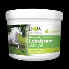 UW Lóbalzsam Aktív-Gél 500ml E 500, Herbal Extracts, Aktiv, Coconut Oil, The Balm, Herbalism, Jar, Skin Care, Food