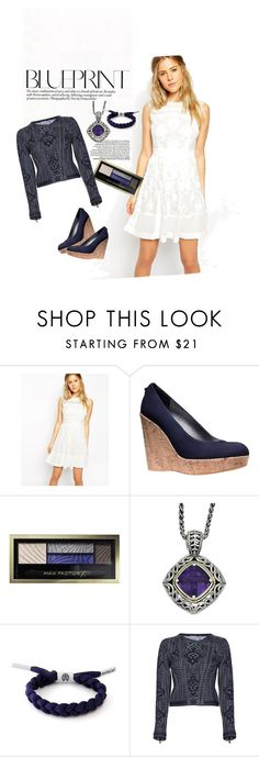 """""""Navy and White Lace"""" by stephmurphy17 on Polyvore featuring ASOS, Stuart Weitzman, Max Factor, Rastaclat and Hervé Léger"""