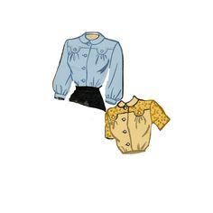Vintage 40s Sewing Pattern Misses Blouse Yoke by retromonkeys, $14.00