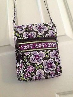 Vera Bradley 'Mini Hipster' Crossbody Bag Plum Petals on sale now on eBay!!