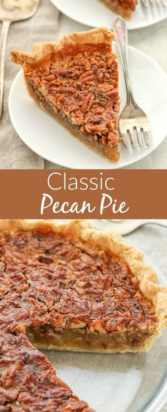 Pecan pie is so simple and makes a delicious dessert. You can make this pie ahead of time to give you extra oven space on Thanksgiving or Christmas. This easy recipe turns out perfect every time. Come grab the recipe and find out the secret I use to keep the crust from getting soggy! This classic pecan pie is a family favorite and perfect for the holidays! #Thanksgiving #Christmas #holidays #recipe #dessert #pie