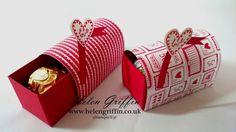 Stampin'Up! Ferrero Rocher Valentines Mini Post Box Tutorial