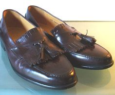 Johnston & Murphy Made in Italy Oxblood Tassel Loafer Size 10 by EurotrashItaly on Etsy