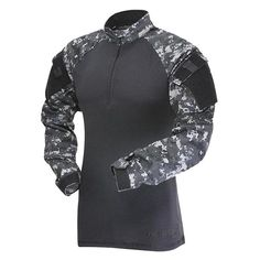 Tru-Spec Polyester/Cotton Rip-Stop Zip Tactical Response Combat Shirt Tactical Response Uniform sleeves Adjustable hook & loop cuff Pencil stall Reinforced elbows and shoulder pockets Imported Combat Shirt, Combat Gear, Combat Jacket, Tactical Wear, Tactical Clothing, Tactical Uniforms, Airsoft Girls, Tactical Response, Survival Clothing