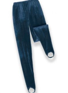 Stirrup pants. Now all you need is an oversized sweater, a scrunchie, and maybe some slouch socks. :P