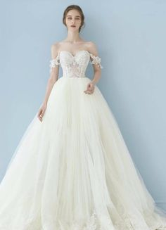 Galia Lahav 'Cinderella' size 0 used wedding dress front view on model