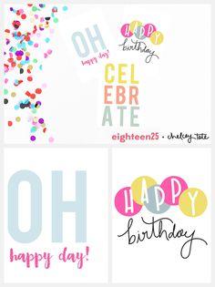 Narozeninové přání ke stažení avytištění zdarma. Printable Birthday Note Cards.