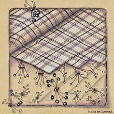 Tangles used: Ga-Bee, MacDee. Tile by Annette Plaga-Lodde / LonettA.