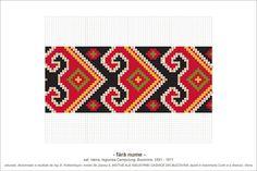 Semne Cusute: MOTIVE: (P5, M29) Beading Patterns, Embroidery Patterns, Knitting Patterns, Hama Beads, Traditional Outfits, Pixel Art, Needlework, Cross Stitch, Tapestry