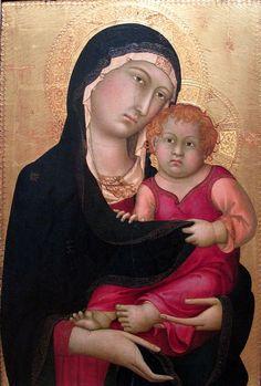 The Athenaeum - Madonna and Child (Simone Martini - )