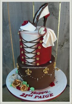 Moulin Rouge Cake Designer cakes and cupcakes by Mel SugarMama in Auckland www.sugarandspicecakes.co.nz