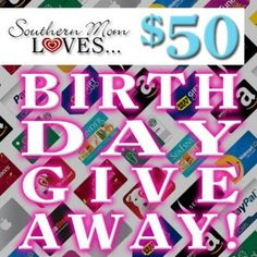 $50 via Paypal Cash or eGift Card of Choice Giveaway
