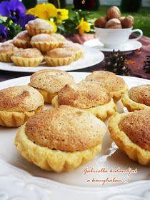 Diós kosárka - Hozzávalók a tésztához: (kb. 40-42 db kosárka lesz ebből a mennyiségből) 40 dkg liszt fél csomag sütőpor (6 g) 4 evőkanál porcukor 4 tojássárgája 25 dkg margarin fél citrom leve A töltelékhez: 4 tojásfehérje 10-12 dkg porcukor 25 dkg darált dió 1 citrom reszelt héja és pár csepp leve + házi sárgabaracklekvár