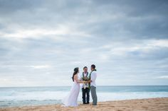 Intimate Ceremony at Ke Iki Beach Hawaii by Rene Tate Photography