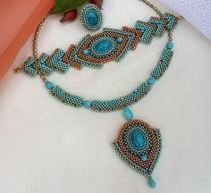 Otomatik alternatif metin yok. Seed Bead Necklace, Seed Bead Jewelry, Beaded Necklace, Beaded Bracelets, Necklaces, Jewelry Sets, Diy Jewelry, Jewelry Making, Jewellery