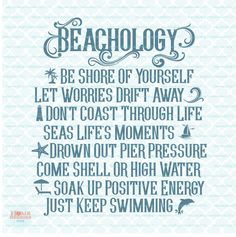 Nautical Signs, Personalized Greeting Cards, I Love The Beach, Just Dream, Beach Themes, Beach Ideas, My Happy Place, Favorite Quotes, Inspirational Quotes